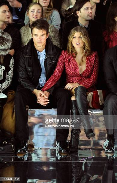 Singer Fergie and actor Josh Duhamel attend the Marc Jacobs Fall 2011 Collection at N.Y. State Armory on February 14, 2011 in New York City.