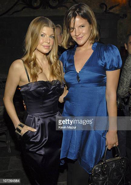 Singer Fergie and Kate Sumner celebrate Fergie's cover on Allure Magazine at Green Door on November 16 2007 in Los Angeles **Exclusive**