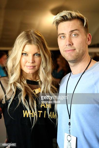 Singer Fergie and Singer Lance Bass attend Red Carpet Radio presented by Westwood One at Nokia Theatre LA Live on November 22 2014 in Los Angeles...