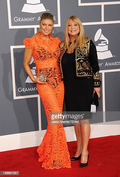 Singer Fergie and Theresa Ann Ferguson arrive at the 54th Annual GRAMMY Awards held at Staples Center on February 12 2012 in Los Angeles California