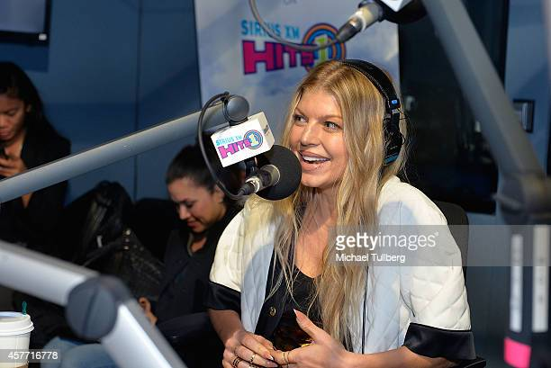 Singer Fergie appears at SiriusXM Hits 1's The Mornng Mash Up Broadcast at SiriusXM Studios on October 23 2014 in Los Angeles California