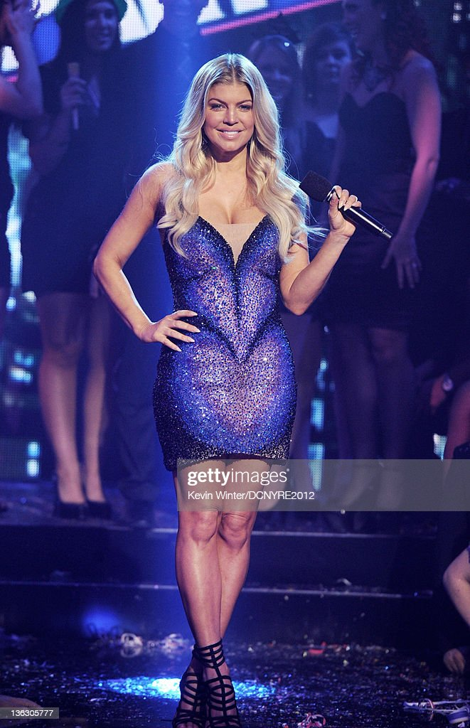 Singer Fergie appears on Dick Clark's New Year's Eve at Los Angeles Center Studios on December 31, 2011 in Los Angeles, California.