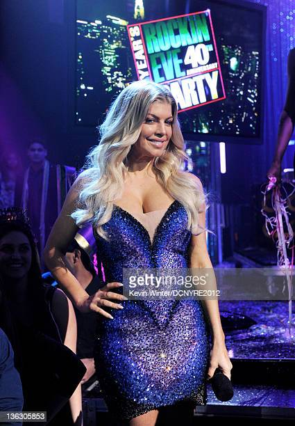 Singer Fergie appears on Dick Clark's New Year's Eve at Los Angeles Center Studios on December 31 2011 in Los Angeles California