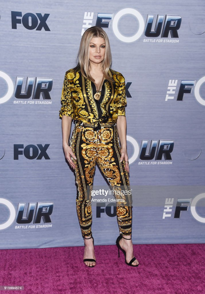 Singer Fergie arrives at FOX's 'The Four: Battle For Stardom' Season Finale Viewing Party at Delilah on February 8, 2018 in West Hollywood, California.