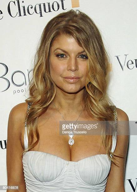 Singer Fergie arrives at her birthday reception at Bare Pool Lounge at The Mirage Hotel and Casino Resort on March 27, 2008 in Las Vegas, Nevada.