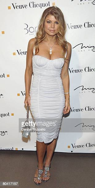 LAS VEGAS MARCH 27 Singer Fergie arrives at her birthday reception at Bare Pool Lounge at The Mirage Hotel and Casino Resort on March 27 2008 in Las...