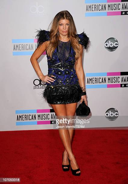 Singer Fergie arrives at the 2010 American Music Awards held at Nokia Theatre LA Live on November 21 2010 in Los Angeles California
