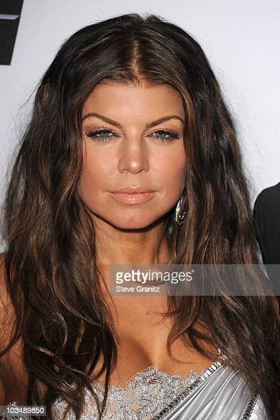 Singer Fergie arrives at the 52nd Annual GRAMMY Awards Salute To Icons Honoring Doug Morris held at The Beverly Hilton Hotel on January 30 2010 in...