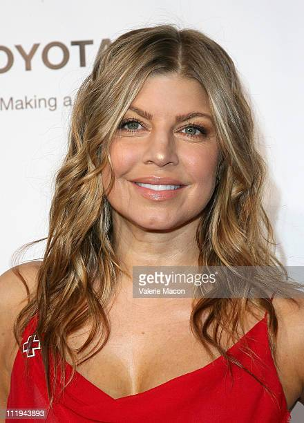Singer Fergie arrives at the American Red Cross Santa Monica Chapter's Annual Red Tie Affair on April 9 2011 in Santa Monica California