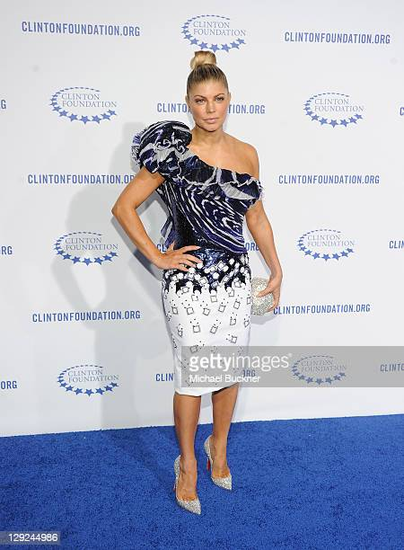 Singer Fergie arrives at The Clinton Foundation's A Decade Of Difference Gala at The Hollywood Palladium on October 14 2011 in Los Angeles California