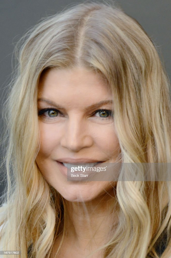 Singer Fergie arrives at the Giorgio Armani pary to celebrate Paris Photo Los Angeles Vernissage opening night at Paramount Studios on April 25, 2013 in Hollywood, California.