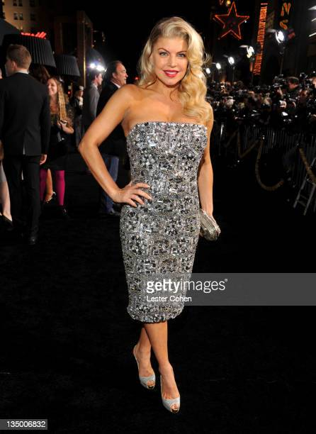Singer Fergie arrives at the Los Angeles premiere of New Year's Eve at Grauman's Chinese Theatre on December 5 2011 in Hollywood California
