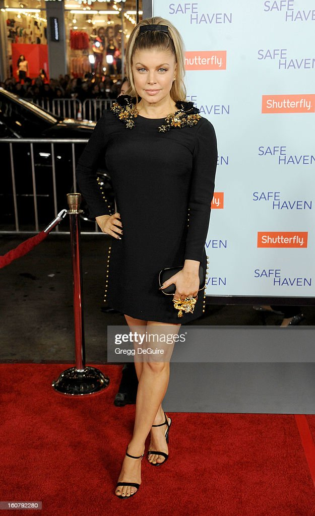 Singer Fergie arrives at the Los Angeles premiere of 'Safe Haven' at TCL Chinese Theatre on February 5, 2013 in Hollywood, California.