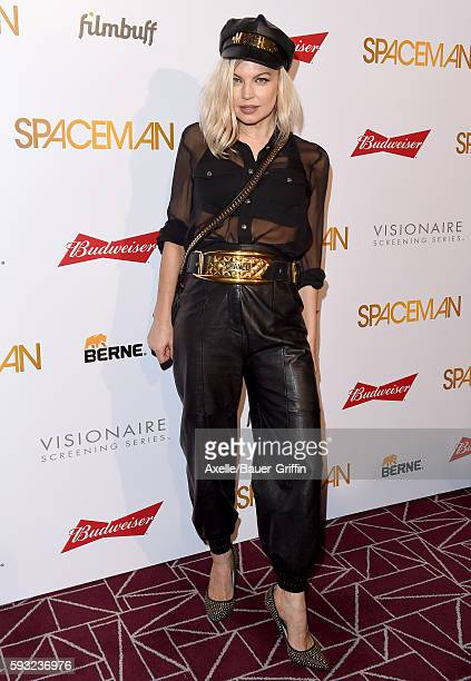 Singer Fergie arrives at the premiere of Orion Pictures' 'Spaceman' at The London Hotel on August 7 2016 in West Hollywood California