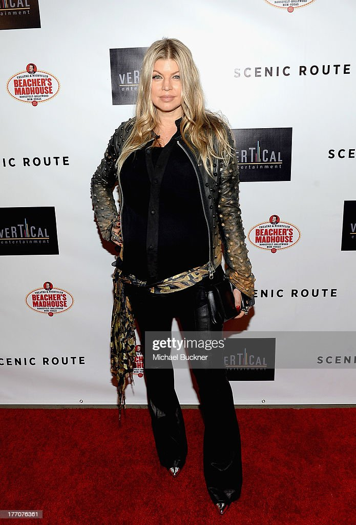 Singer Fergie arrives at the premiere of Vertical Entertainment's 'Scenic Route' at Chinese 6 Theater- Hollywood on August 20, 2013 in Hollywood, California.