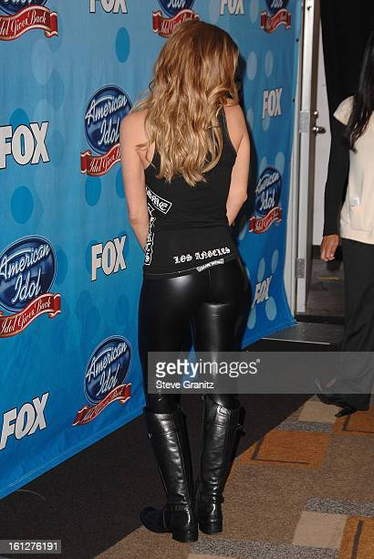 Singer Fergie arrives at the taping of Idol Gives Back held at the Kodak Theatre on April 6 2008 in Hollywood California
