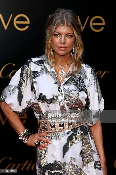 Singer Fergie arrives at the third annual Loveday celebration and Cartier Love Charity Bracelet launch held at a private residence on June 18, 2008...