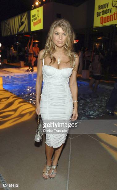 LAS VEGAS MARCH 27 Singer Fergie at her birthday reception at Bare Pool Lounge at The Mirage Hotel and Casino Resort on March 27 2008 in Las Vegas...