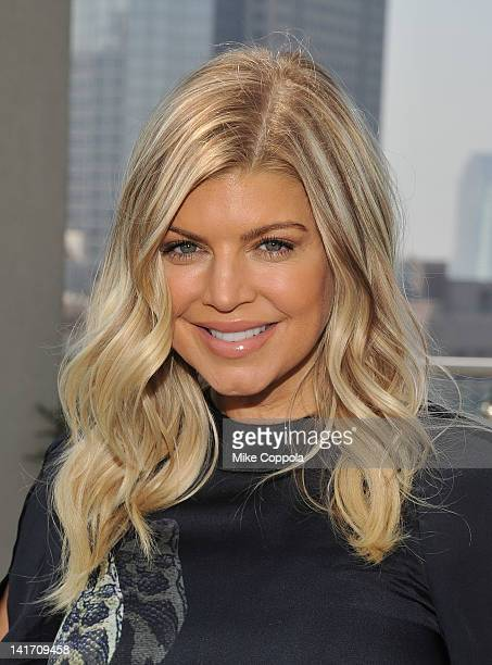 Singer Fergie attends her press day at The James Hotel on March 22, 2012 in New York City.