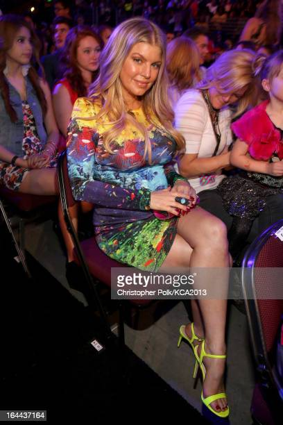 Singer Fergie attends Nickelodeon's 26th Annual Kids' Choice Awards at USC Galen Center on March 23 2013 in Los Angeles California