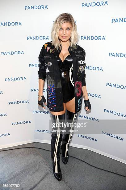 Singer Fergie attends Pandora Summer Crush at LA Live on August 13 2016 in Los Angeles California