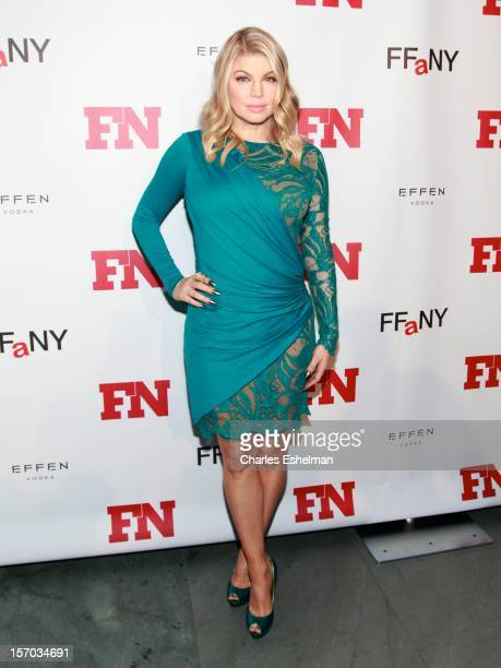 Singer Fergie attends the 2012 Footwear News Achievement awards at The Museum of Modern Art on November 27, 2012 in New York City.