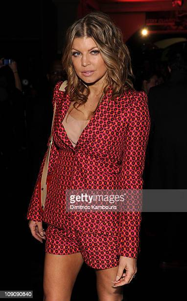 Singer Fergie attends the Marc Jacobs Fall 2011 Collection at N.Y. State Armory on February 14, 2011 in New York City.