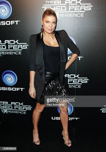 Singer Fergie attends Ubisoft's The Black Eyed Peas Experience launch party at SupperClub Los Angeles on November 21, 2011 in Los Angeles, California.