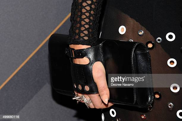 Singer Fergie clutch and accessory detail attends the 29th FN Achievement Awards at IAC Headquarters on December 2 2015 in New York City