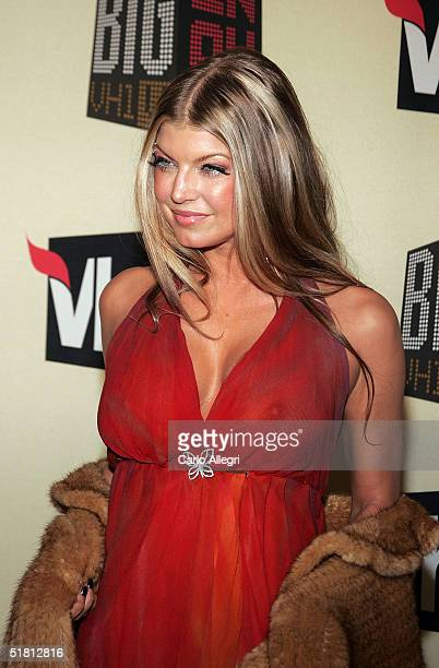 Singer Fergie from Black Eyed Peas attends the VH1 - Big in '04 at the Shrine Auditorium December 1, 2004 in Los Angeles, California.