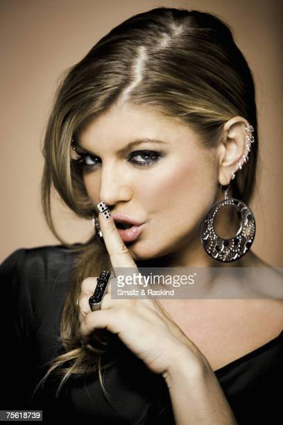 Singer Fergie is photographed for Sessions at AOL on March 20, 2007 in Los Angeles, California.