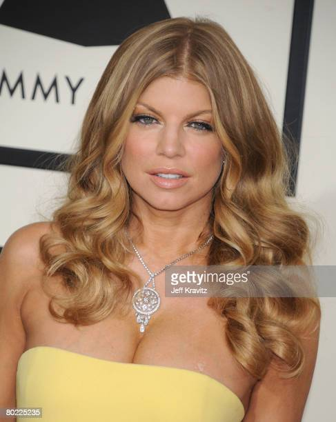 Singer Fergie of Black Eyed Peas arrives to the 50th Annual GRAMMY Awards at the Staples Center on February 10 2008 in Los Angeles California