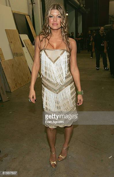 Singer Fergie of Black Eyed Peas is photographed backstage at the 2004 MTV Video Music Awards Latin America on October 21 2004 at the Jackie Gleason...