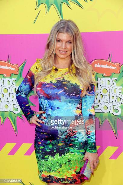 US singer Fergie of the Black Eyed Peas arrives at Nickelodeon's 26th Annual Kids' Choice Awards at USC Galen Center in Los Angeles USA on 23 March...