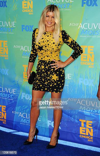 Singer Fergie of The Black Eyed Peas arrives at the 2011 Teen Choice Awards held at the Gibson Amphitheatre on August 7 2011 in Universal City...