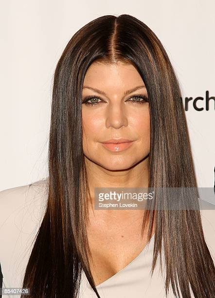Singer Fergie of The Black Eyed Peas attends the March of Dimes 34th annual Beauty Ball at Cipriani 42nd Street on March 12 2009 in New York City