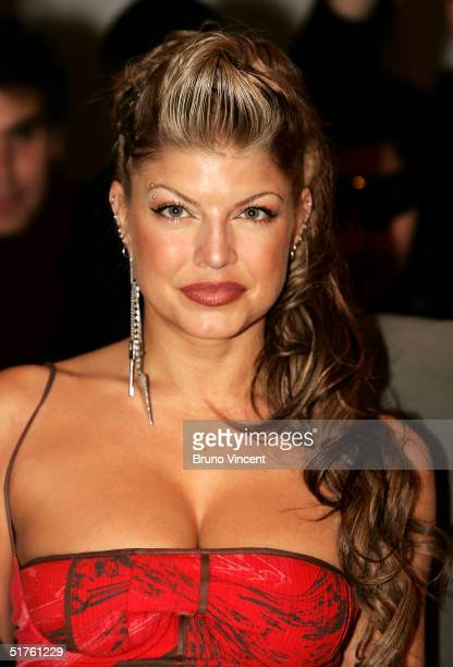 Singer Fergie of The Black Eyed Peas attends the MTV Europe Music Awards 2004 on November 18 2004 at Tor di Valle in Rome Italy