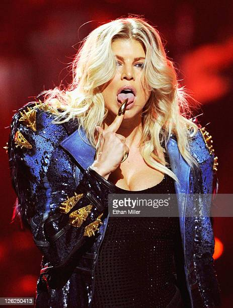 Singer Fergie of The Black Eyed Peas performs onstage at the iHeartRadio Music Festival held at the MGM Grand Garden Arena on September 23 2011 in...
