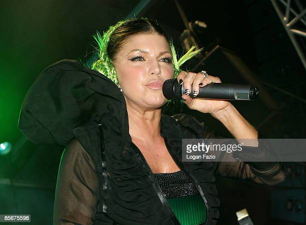 Singer Fergie of the group The Black Eyed Peas performs at Ultra Music Festival at Bicentennial Park on March 27 2009 in Miami Florida