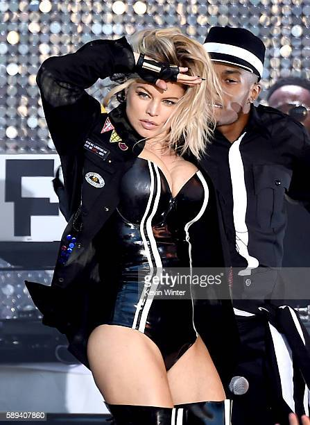 Singer Fergie performs at the Pandora Summer Crush at LA Live on August 13 2016 in Los Angeles California