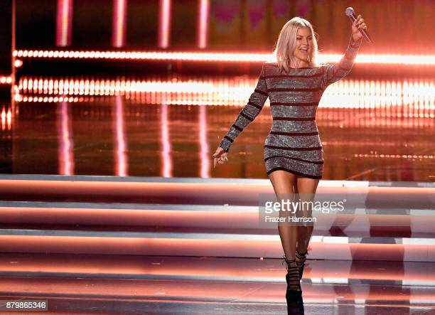 Singer Fergie performs during the 2017 Miss Universe Pageant at The Axis at Planet Hollywood Resort Casino on November 26 2017 in Las Vegas Nevada