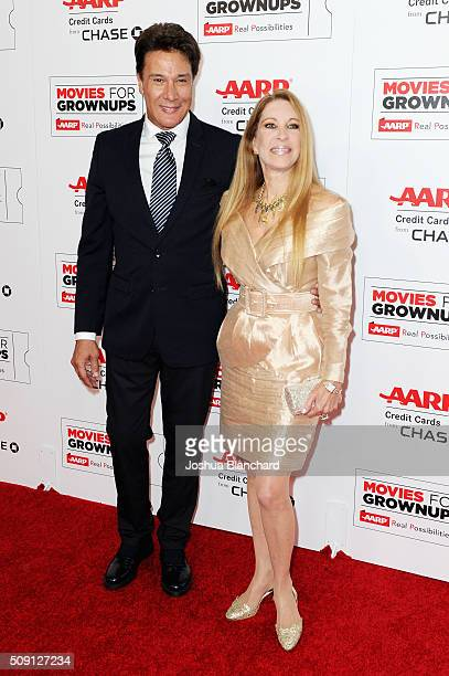 Singer Fernando Allende and Mari Mediavilla attend AARP's 15th Annual Movies For Grownups Awards at the Beverly Wilshire Four Seasons Hotel on...