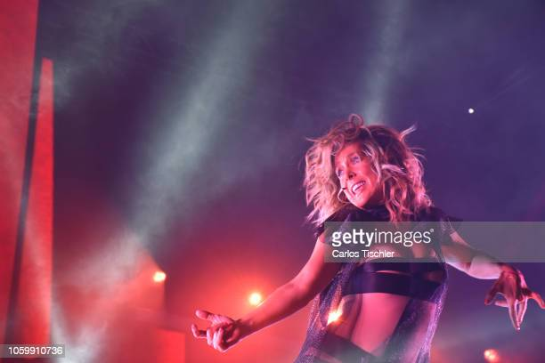 Singer Fey performs on stage during a show as part of the 'Desnuda Tour' at Arena Ciudad de Mexico on October 26 2018 in Mexico City Mexico