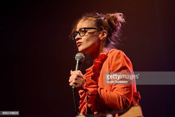Singer Fiona Apple performs onstage during the We Rock with Standing Rock benefit concert at The Fonda Theatre on December 18 2016 in Los Angeles...