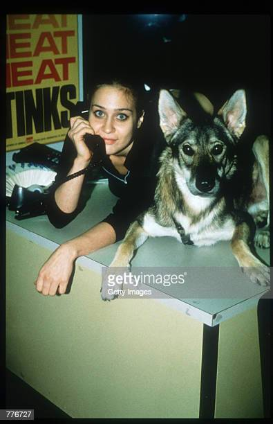 SInger Fiona Apple records a message on her 1800 hotline November 30 1997 in Norfolk VA Apple started the hotline to help PETA in their fight against...