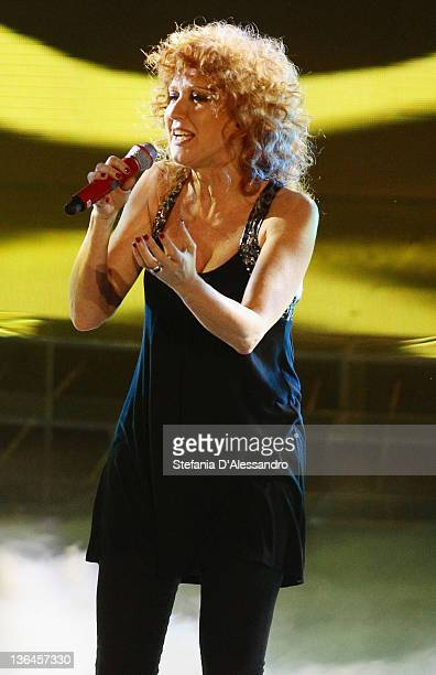 Singer Fiorella Mannoia attends the X Factor Italian TV Show final on January 5 2012 in Milan Italy