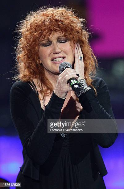 Singer Fiorella Mannoia performs at Che Tempo Che Fa Italian TV Show on January 23 2012 in Milan Italy