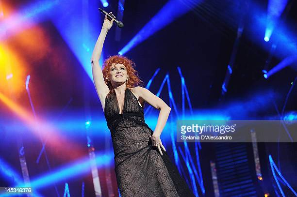 Singer Fiorella Mannoia performs live during 2012 Wind Music Awards held at Arena of Verona on May 26 2012 in Verona Italy