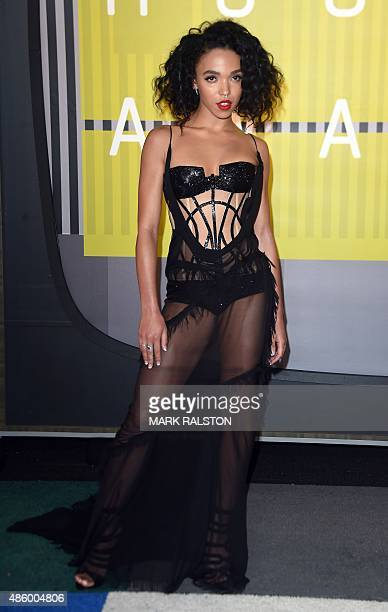 Singer FKA Twigs arrives on the red carpet at the MTV Video Music Awards August 30 2015 at the Microsoft Theater in Los Angeles California AFP...
