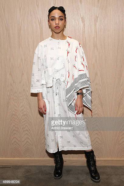 Singer FKA Twigs attends a Surface Magazine Event With Hans Ulrich Obrist And FKA Twigs at Edition Hotel on December 4 2014 in Miami Florida